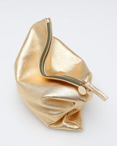 Foldover Clutch In Gold