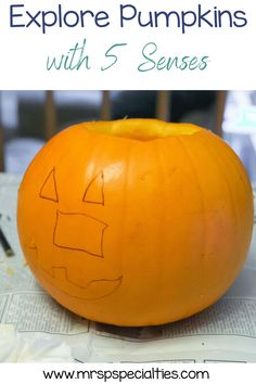 In this science lesson, students use their 5 senses to explore pumpkins. Exploring pumpkins is a great way to build attending skills and language. It's also perfect for integrating fine motor skills into science. When you use these ideas in your lesson plan, speech