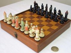 "Vintage #travel chess set  anri  #""charlemagne"" #magnetic  in org board - display,  View more on the LINK: 	http://www.zeppy.io/product/gb/2/162000132359/"