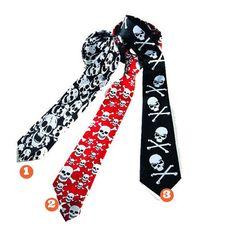 Corbata con Calaveras #corbatasypajaritas #accesoriosdisfraz #accesoriosphotocall