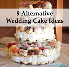 Cut your catering budget with these fun wedding dessert ideas that aren't cake! Hint: Wedding pancakes...enough said :)
