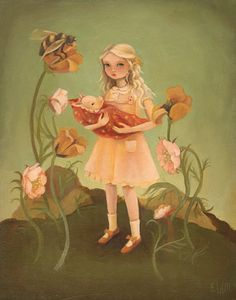 Alice and the Piglet Print
