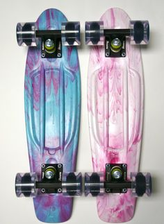 Marble penny boards