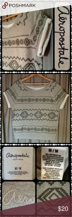 Aeropostale Aztec Sweatshirt This fun on trend soft and comfy sweatshirt will quickly become a favorite all year long. She's so versatile you can wear her layered with jeans/leggings/boots or on a chilly summer night with tank/shorts/sandles. Perfect EUC. No Mercari, PayPal or Trades 😊 Open to reasonable offers Aeropostale Tops Sweatshirts & Hoodies