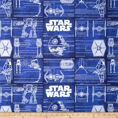 Star Wars Technial Plans Blue from @fabricdotcom  This cotton print fabric is perfect for quilting, apparel and home decor accents. Colors include white and blue. This is a licensed product and not intended for commercial use.