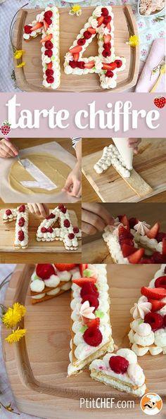 Tarte chiffres ou number cake - Alfileres Tutorial and Ideas No Cook Desserts, Dessert Recipes, Beautiful Cakes, Amazing Cakes, Cake Cookies, Cupcake Cakes, Cupcakes, Bolo Original, Cake Lettering