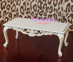 dollhouse in hollow log | Barbie Furniture Wooden Coffee Table Square Top With Hollow-out ...