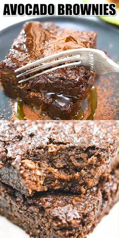 Chocolate brownies are such a delicious dessert… but what if you could have them without all the guilt? This Avocado Bro Easy Chocolate Desserts, Brownie Desserts, Great Desserts, Dessert Recipes, Chocolate Brownies, Healthy Breakfast Recipes, Healthy Desserts, Delicious Desserts, Vegetarian Recipes
