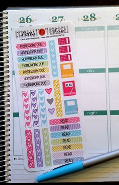 School, College, Organizing Stickers, Headers, Notebook, Planner Stickers, Fits Erin Condren and others, Kiss Cut, Kiss Cut, Planning, by LillyTop on Etsy