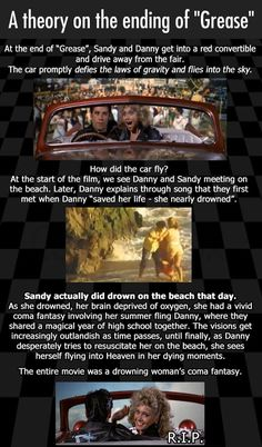 Didn't think of it that way // funny pictures - funny photos - funny images - funny pics - funny quotes - #lol #humor #funnypictures Conspiracy Theories Mind Blown, Conspiracy Movie, Disney Conspiracy Theories, Conspericy Theories, Mind Blowing Theories, Cartoon Theories, Mind Blowing Facts, Grease Theory, Grease Movie Quotes