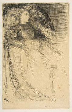 James McNeill Whistler (American, Lowell, Massachusetts 1834–1903 London), Weary, 1863. Drypoint; fourth state of six (Glasgow); printed in black ink on tan Japan drum-mounted on ivory laid paper. Plate: 8 3/16 x 5 1/4 in. (20.8 x 13.3 cm) Sheet: 17 9/16 × 13 1/8 in. (44.6 × 33.4 cm). Harris Brisbane Dick Fund, 1917. The Metropolitan Museum of Art, 17.3.64 © 2000–2016 The Metropolitan Museum of Art.