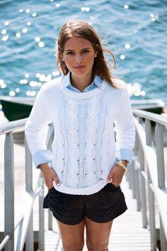 White cable knit sweater.                                                                                                                                                                                                                                                                                                                                                                                                                                                                                                                                                             kieljamespatrick.tumblr.com