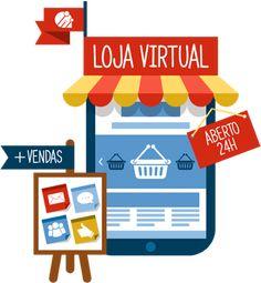 Criação de Loja Própria - Venda seus produtos na internet. Numa loja bonita e cheia de recursos, otimizada para celulares, tablets e computadores.