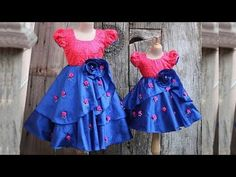 DIY Designer Baby Frock With Fabric Flower Pattern Making Step By Step Full Tutorial Baby Frock Pattern, Frock Patterns, Baby Girl Dress Patterns, Indian Dresses For Kids, Dresses Kids Girl, Girl Outfits, Indian Clothes, Kids Party Frocks, Party Wear Frocks
