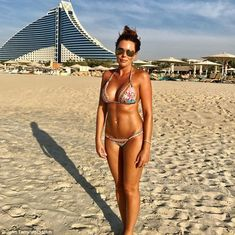It's a WAG's world: Toni Terry looked incredible in this bikini snap which was shared by her footballer husband John on Instagram on Thursday in Dubai