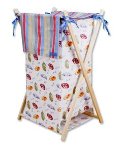 The NASCAR Hamper Set is the best way to keep the nursery clean and organized.