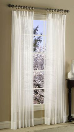 Splendor batiste pinch pleated drapes are a popular sheer pinch pleat pair which can be used as an under treatment or can be used alone for that casual sheer look. Pinch Pleat Curtains, Curtains And Draperies, Sheer Curtain Panels, Pleated Curtains, White Curtains, Panel Curtains, Curtain Styles, Custom Drapes, Window Coverings
