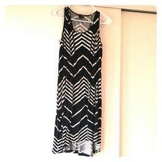 Chevron Striped Dress Lightweight cotton slight high-low, chevron dress. a.n.a Dresses