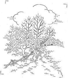 Resultado de imagen para landscape embroidery patterns hand stitching