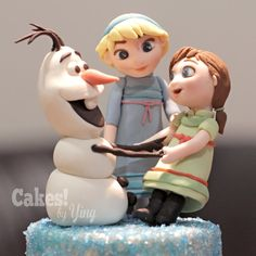 Little Elsa, Anna & Olaf toppers - Cake by Cakes! by Ying