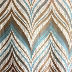 Beige & Teal Dome Poly Jacquard Weave Fabric By The by FabricMart