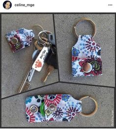 Tendance Sac 2018 : Description Porte-Clés Porte Jeton – Tuto Patron Co. Blog Couture, Creation Couture, Sewing Hacks, Sewing Crafts, Sewing Projects, Sewing Tips, Diy Crafts, Diy Keychain, Keychains
