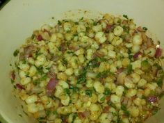 Hominy salad/salsa... I have been looking for this for so long, so glad I finally found it.