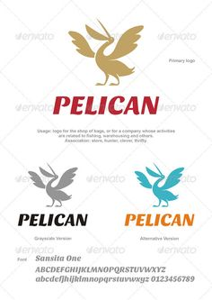 Pelican Logo - Animals Logo Templates
