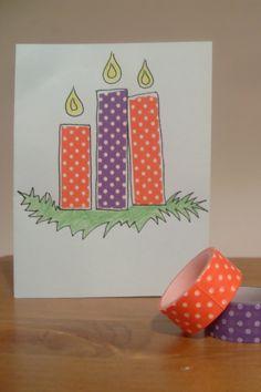 ideas4parents | DIY Weihnachtskarten aus Masking Tape