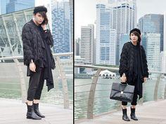 Turban Of Awesomeness., Max Mara. Vintage Fur Fringe Coat., Alexander Wang Anouck Boots., Bata Ginormous Satchel Bag.