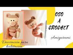 💚OSO Amigurumi a CROCHET o ganchillo, decoracion para cortinas/ habitación 1/2 - YouTube