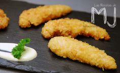 Solomillos de pollo con rebozado crujiente / Chicken tenderloins with crispy breaded