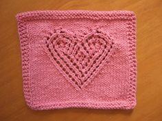 Heart Lace Cloth ~ smariek knits