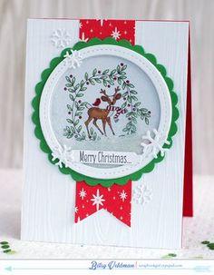 Merry Christmas Shaker Card by Betsy Veldman for Papertrey Ink (September 2014)
