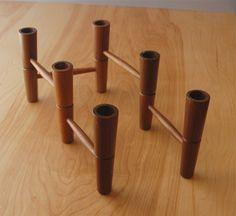 Mid Century Modern Teak Articulating Candleholder Candelabra - Danish modern - Articulated. $58,00, via Etsy.