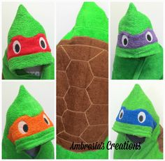 Ambrosia's Creations: Teenage Mutant Ninja Turtle Hooded Towels Are Here!!