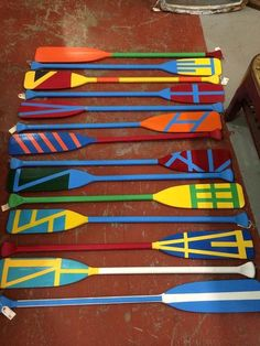 Boat Paddle, Painted