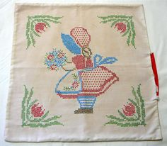 Vintage Hand Made Sunbonnet Sue Holly Hobbie by EvelynnsAlcove, $24.50
