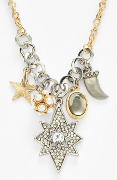 love this cluster necklace