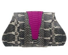 Sarah Forsyth - Evelyn clutch in Watersnake / Python