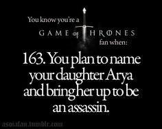 Arya Stark Lampley? Yep. Works for me.