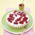 Rezept: Weisses Schokoladen-Eis mit Himbeeren