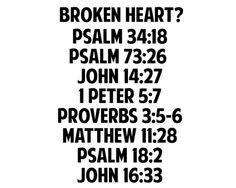 Bible verses for the broken Heart!!