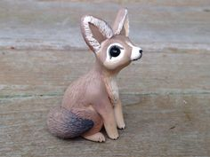 Fennec Fox: Handmade miniature polymer clay by AnimalitoClay