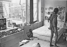 Early everyday bohemian life of Patti Smith, photographed by Judy Linn.