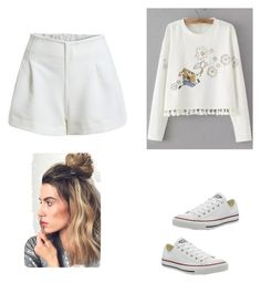"""Untitled #3"" by karagracewarner on Polyvore featuring Converse"