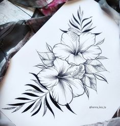small hawaiian flower tattoos for women Inspiration Tattoos, Tattoo Ideas, Tribal Tattoo Designs, Flower Tattoo Designs, Tattoo Women, Tattoos For Women, Woman Tattoos, Hibiscus Flower Drawing, Drawing Flowers