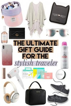 The Ultimate Gift Guide for the Stylish Traveler is part of Travel Clothes Ideas - Stuck on what to gift the stylish traveler From clothes to beauty products and shoes; this is the ultimate gift guide for the stylish traveler in your life! The Ultimate Gift, Ultimate Travel, Travel Necessities, Travel Essentials, Best Travel Gifts, Mexico Vacation, Cruise Vacation, Disney Cruise, Vacation Style
