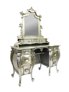 """Amazing! Rococo French Dressing Table $1350  47"""" x 19.5"""" x 69.5"""""""