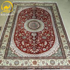 Hand knotted silk rug # Rug No.: P4172 # Quality: 150L (156kpsi) # Size:4x6ft (122x183cm) # Material: 100% Silk # wholesale Price: $384/piece # If you have any interests, please email to sales@bosicarpets.com    Hand-madecarpet#orienatlrug#oldrug#Kashmirrug#Chinacarpet#Iraniancarpet#boteh#HeratiGul# Isfahan#Tabriz#Qum#Nain#Kashan#Kerman#Bijar#Sarouk#Caucasian#antiquecarpet#bosicarpet
